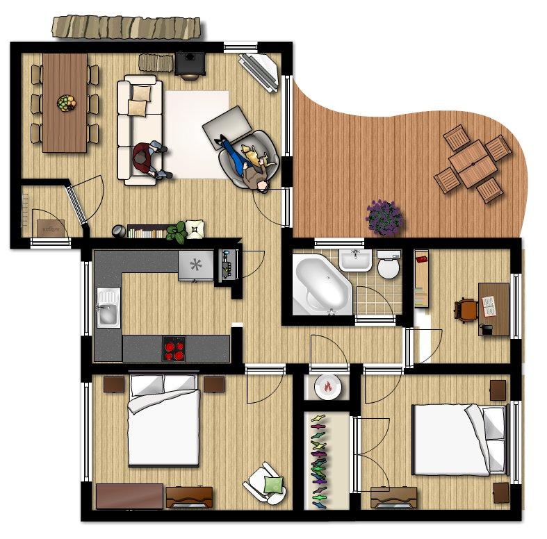Appartamento ristrutturato occasionecasa for Piante di case